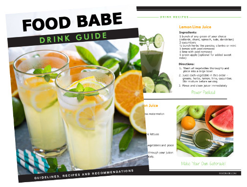 The Food Babe Drinking For Health Cover