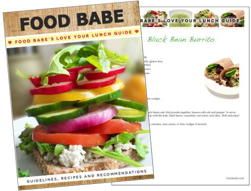 Food Babe's Love Your Lunch Guide Cover