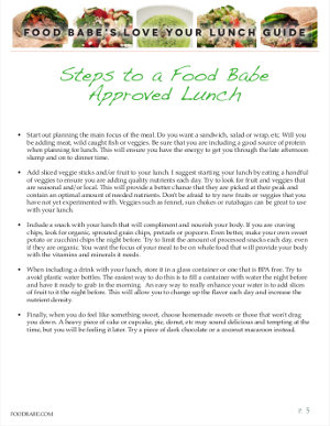 Food Babe's Love Your Lunch Guide Sample