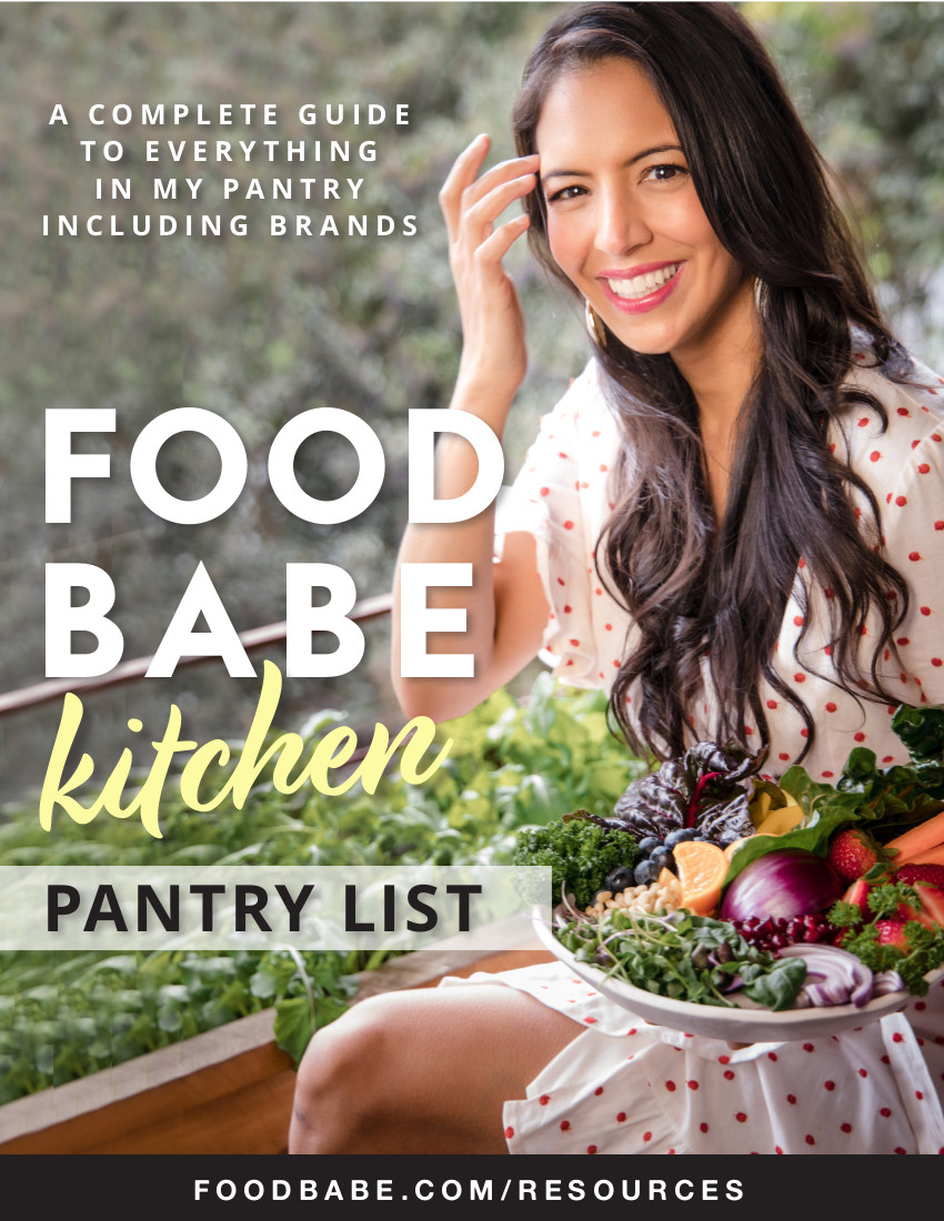 Food Babe Kitchen Pantry List - Cover