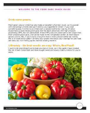 The Food Babe Snack Smarter Guide Sample