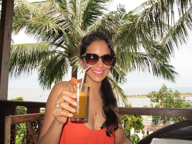 Drinking Juice In Thailand