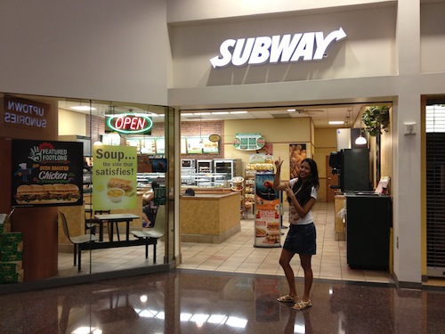 food babe - me and subway