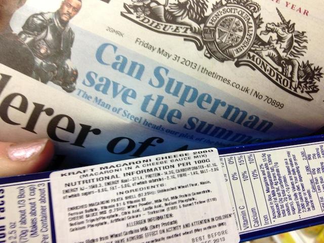 Kraft with Newspaper