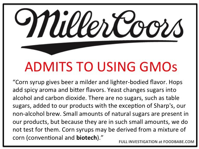 they stated corn syrup gives beer a milder and lighter bodied flavor and corn syrups may be derived from a mixture of corn conventional and biotech