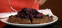Goji Berry Waffles with Blueberry Coconut Compote