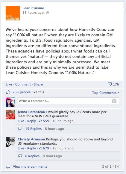 Lean Cuisine Facebook Post Good