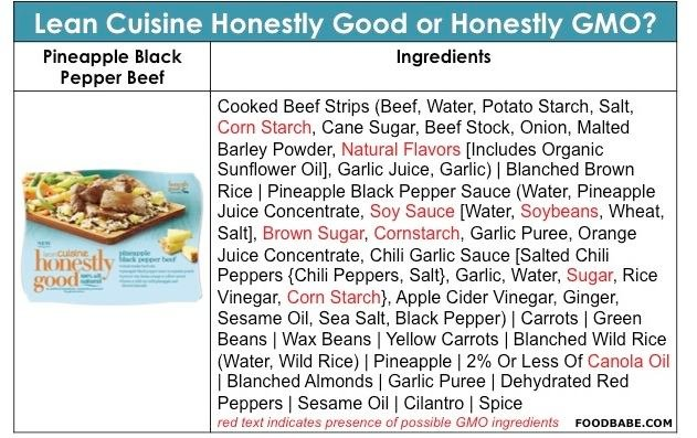 Lean Cuisine Beef