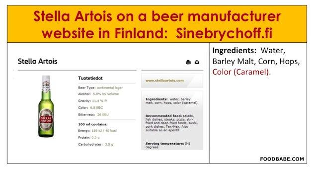 Stella Artois infographic