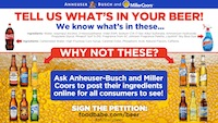 Anheuser-Busch and Miller Coors: Tell Us What's In Your Beer!