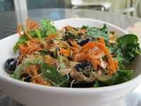 Refreshing Carrot Blueberry Sprout Salad