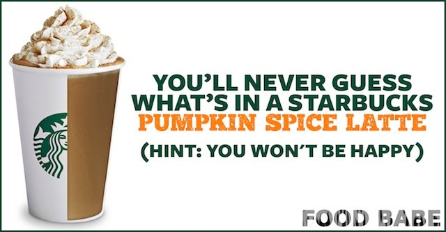 You Ll Never Guess What S In A Starbucks Pumpkin Spice Latte