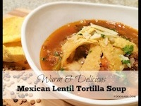 Mexican Lentil Tortilla Soup