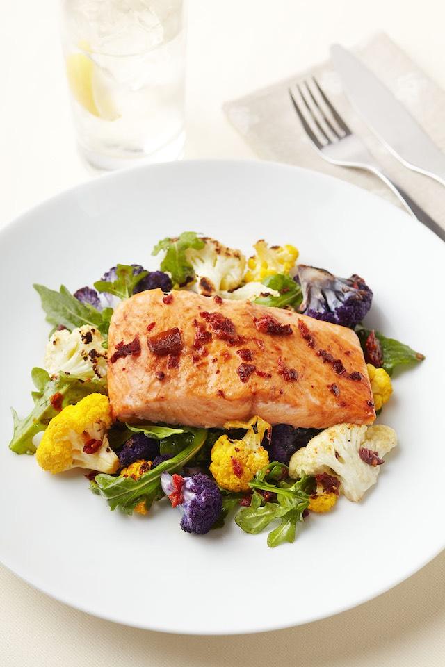 Chipotle Salmon with Arugula Salad