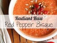 Radiant Raw Red Pepper Bisque