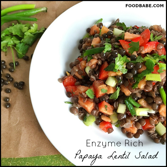 Food Babe's Enzyme Rich Lentil Papaya Salad