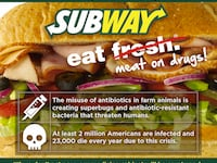 Subway: We Want Subs Not Drugs! Stop The Routine Use Of Antibiotics.