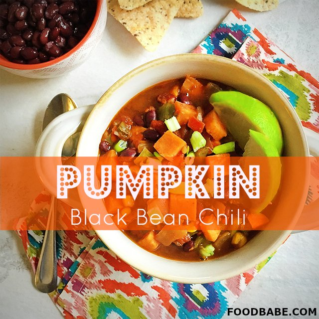 pumpkin black bean chili perfect for a weeknight meal