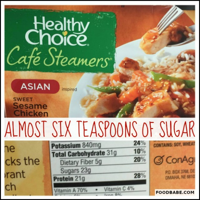 SUGAR HEALTHY CHOICE SESAME CHICKEN