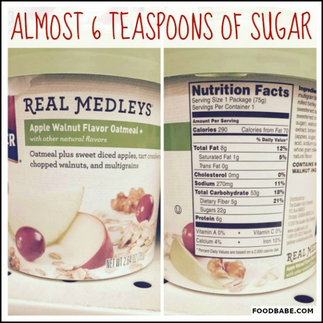 SUGAR REAL MEDLEY'S OATMEAL