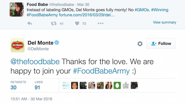 Del Monte Tweet