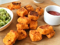 Sweet Potato Tater Tots With Homemade Ketchup & Guacamole!