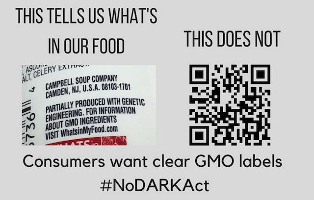 QR code GMO label Dark Act