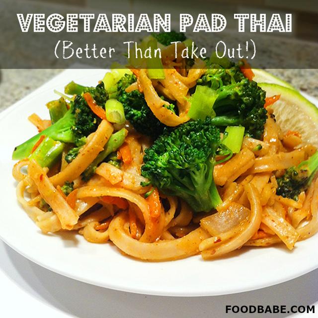 Vegetarian pad thai better than takeout food babe vegetarian pad thai forumfinder Choice Image