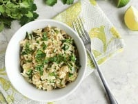 Light & Delicious Cilantro Rice (or Quinoa!) Salad