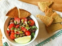 Slow Cooker Southwest Black Bean Dip With Homemade Chips