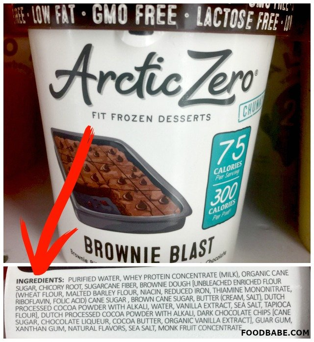 "Arctic Zero is another ""healthy"" ice cream that really isn't. They claim their whey comes from a ""GMO-free region"" but that doesn't guarantee how the cows ..."