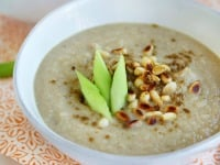 Creamy Cauliflower Soup With Toasted Pine Nuts