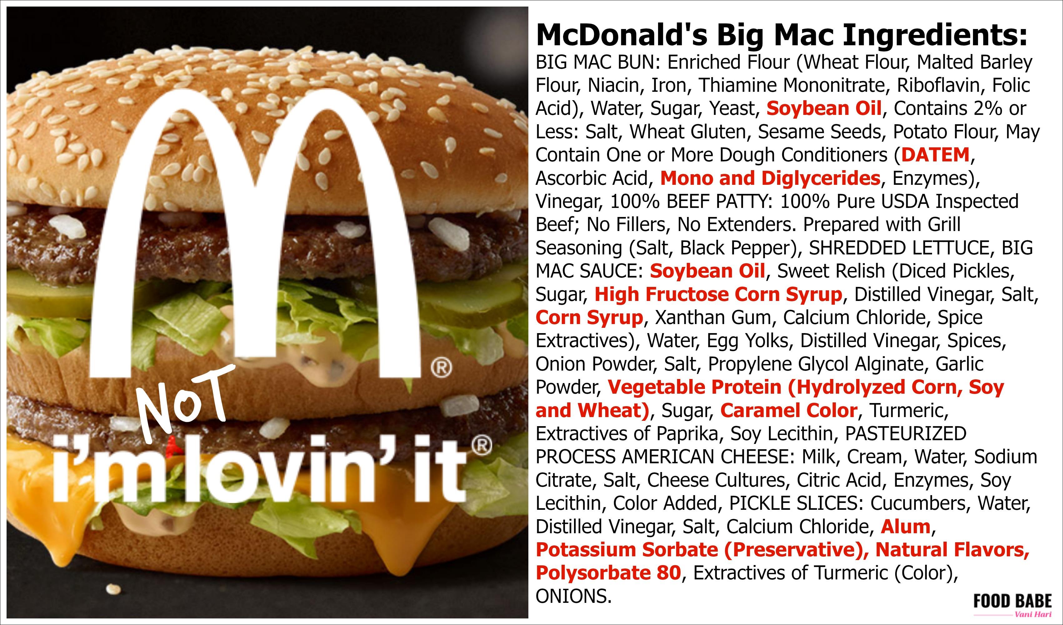 big mac baby food hoax