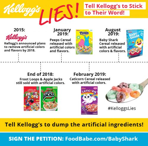 Kelloggs Food Babe Baby Shark Petition