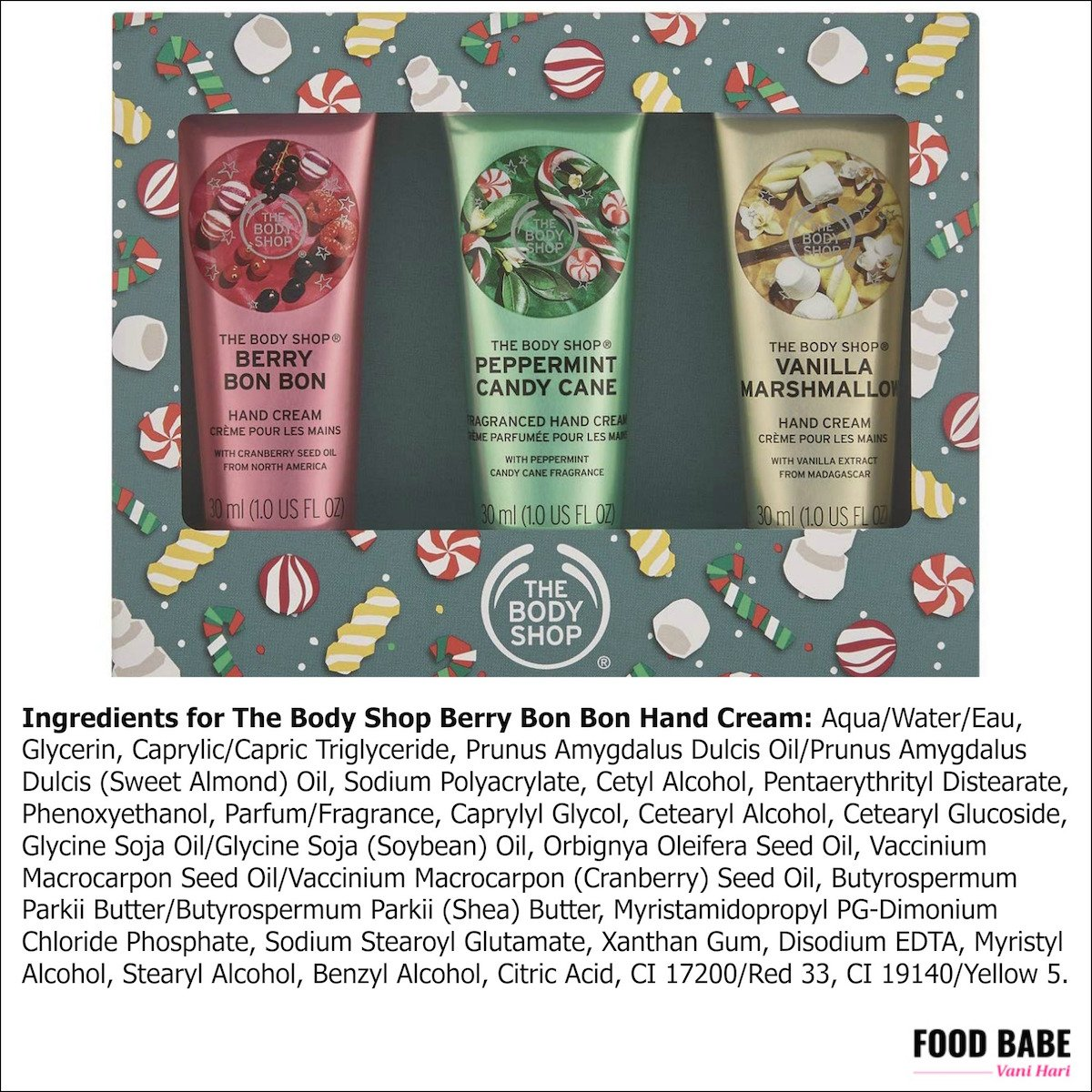 The Body Shop ingredients