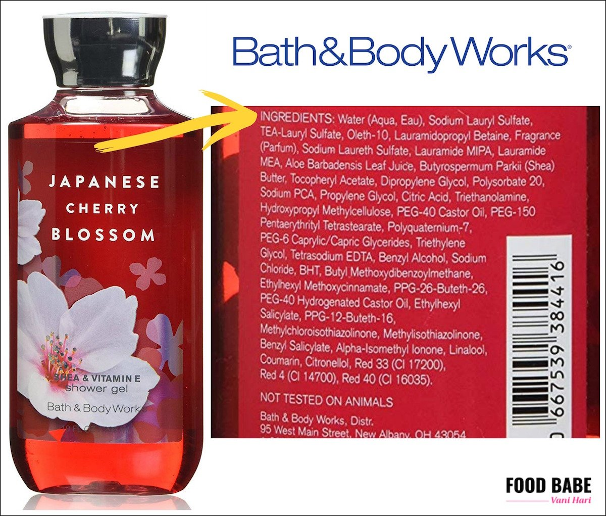 bath and body works ingredients