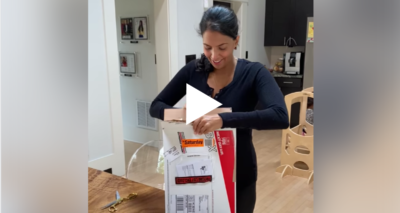 I started crying when I opened this box, and then something funny happened! (VIDEO)