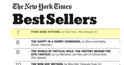 Food Babe Kitchen is a New York Times Best Seller!